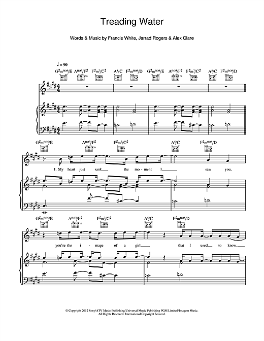 Treading Water Sheet Music