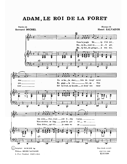 page one of Adam Roi De La ForetASALTTEXT