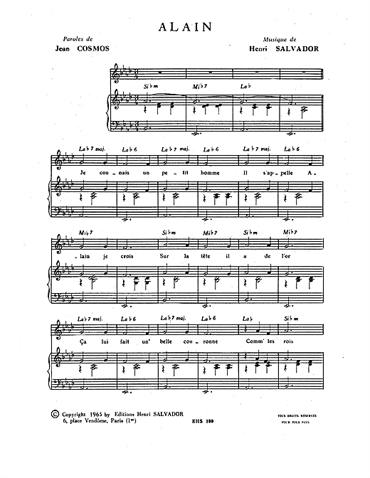 Alain Sheet Music