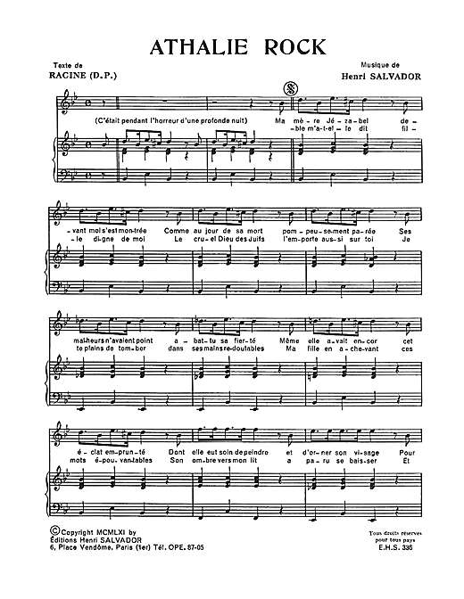 Athalie Rock Sheet Music