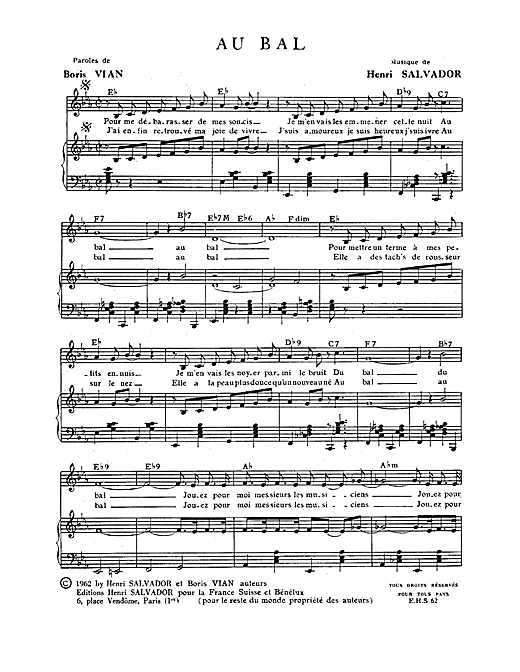 Au Bal Sheet Music