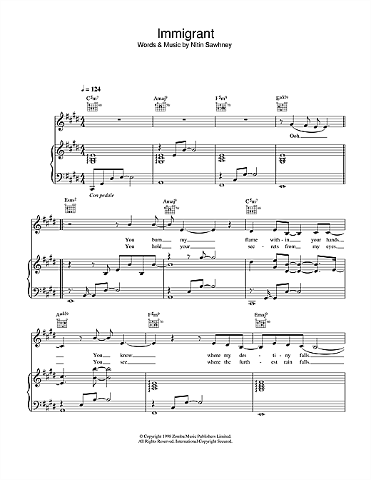 Immigrant Sheet Music