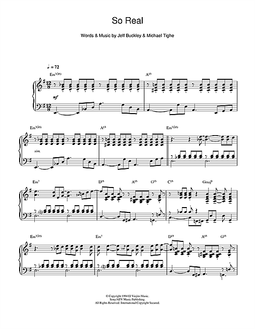 So Real (jazz version) Sheet Music