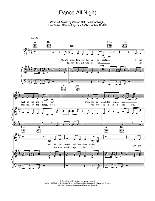 Dance All Night Sheet Music