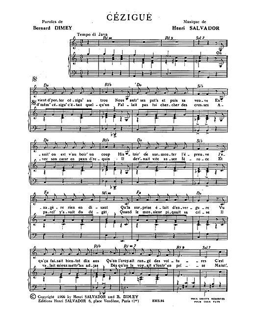 Cezigue Sheet Music