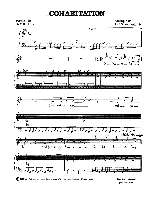 Cohabitation Sheet Music