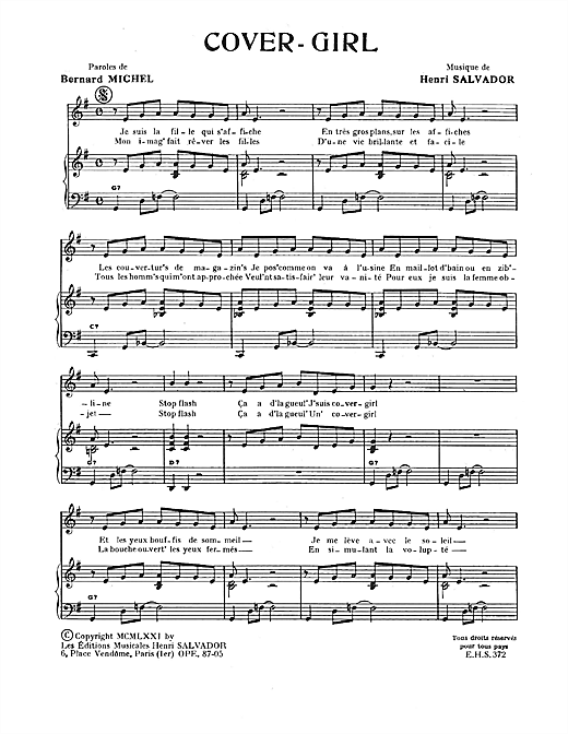 Cover Girl Sheet Music