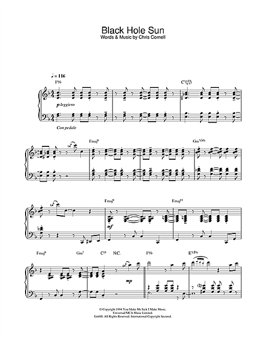 Black Hole Sun (jazz version) Sheet Music
