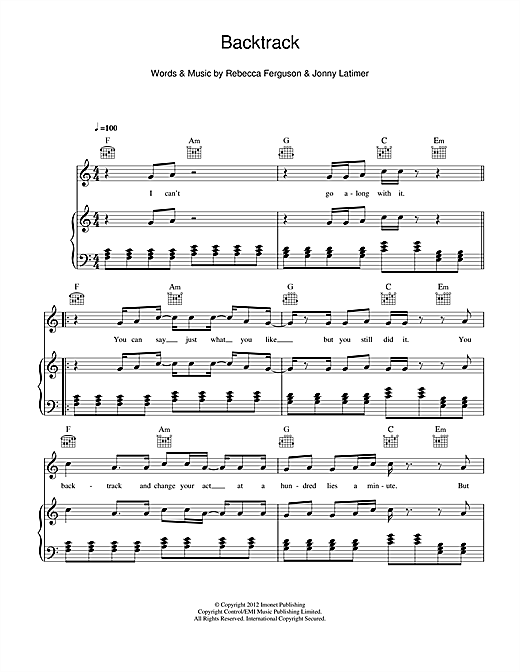 Backtrack Sheet Music