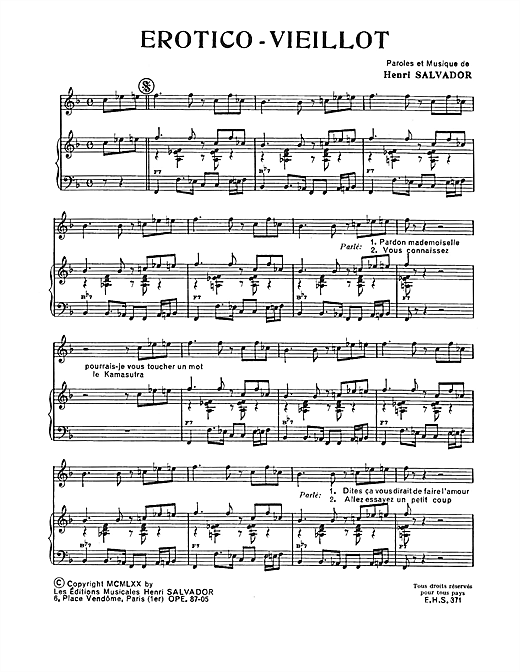 Erotico-Vieillot Sheet Music