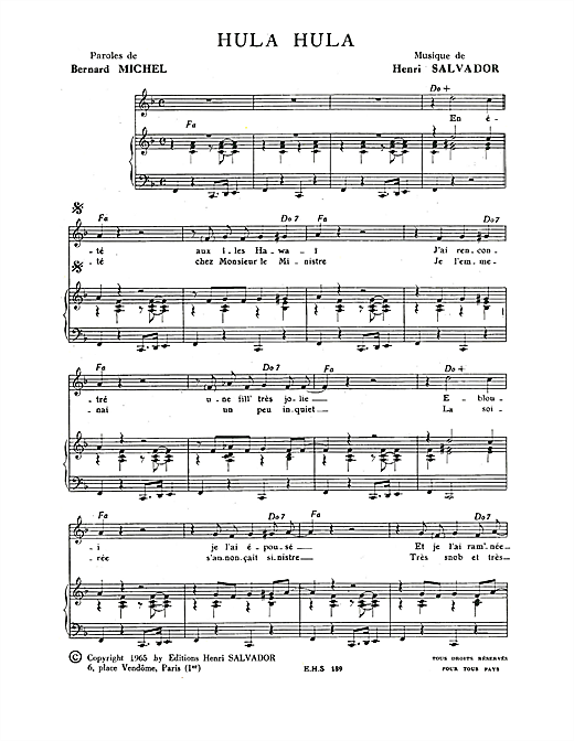 Hula Hula Sheet Music