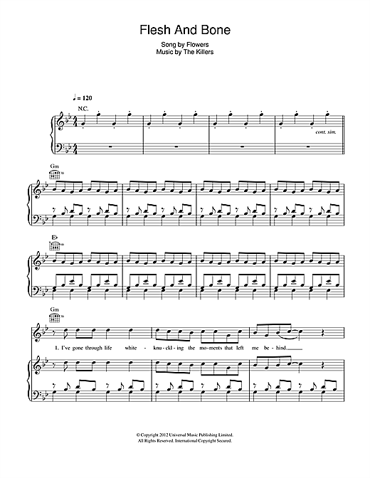 Flesh And Bone Sheet Music