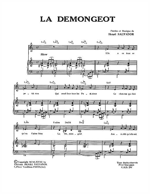 Demongeot Sheet Music