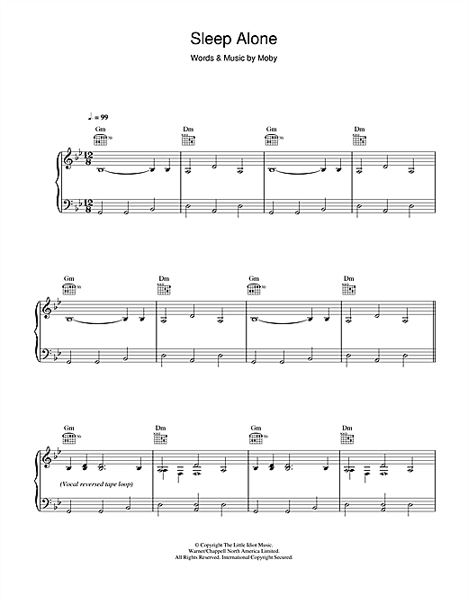Sleep Alone Sheet Music