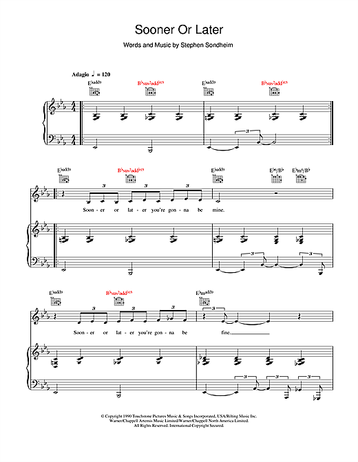 Sooner Or Later Sheet Music