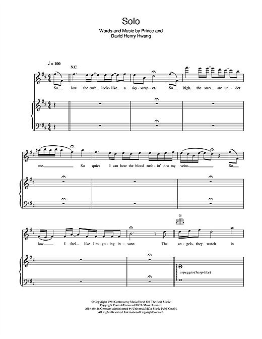 Solo Sheet Music