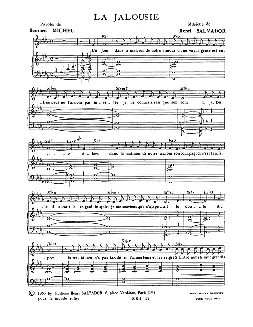 Jalousie Sheet Music