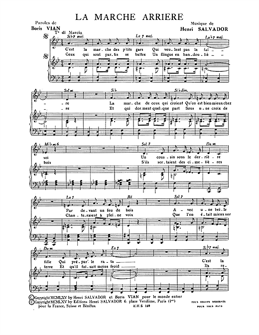 Marche Arriere Sheet Music