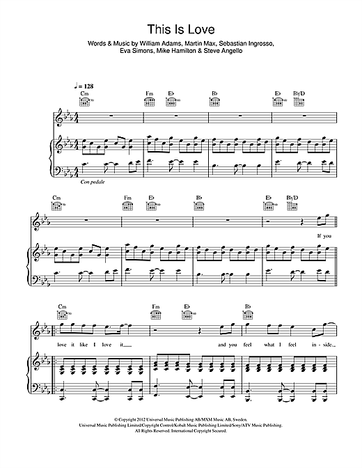 This Is Love Sheet Music