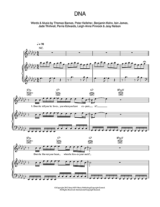 DNA Sheet Music