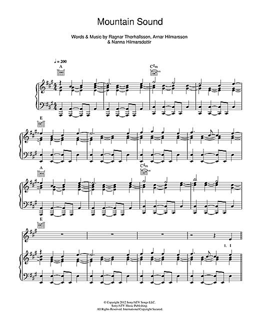Mountain Sound Sheet Music