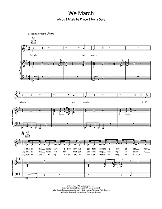 We March Sheet Music