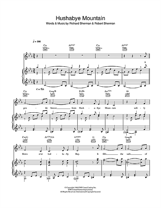 Hushabye Mountain Sheet Music