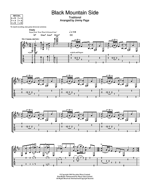 Black Mountain Side Sheet Music