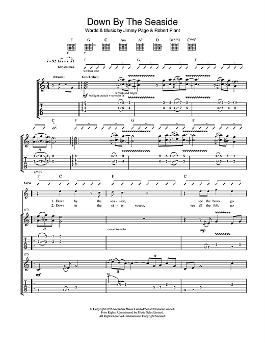 Down By The Seaside Sheet Music