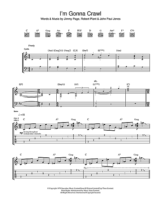 I'm Gonna Crawl (Guitar Tab)