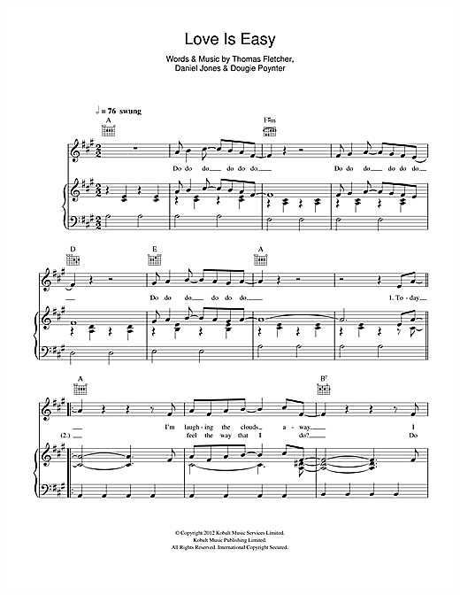 Love Is Easy Sheet Music