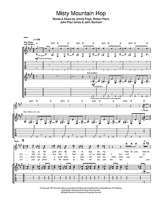 Misty Mountain Hop Sheet Music