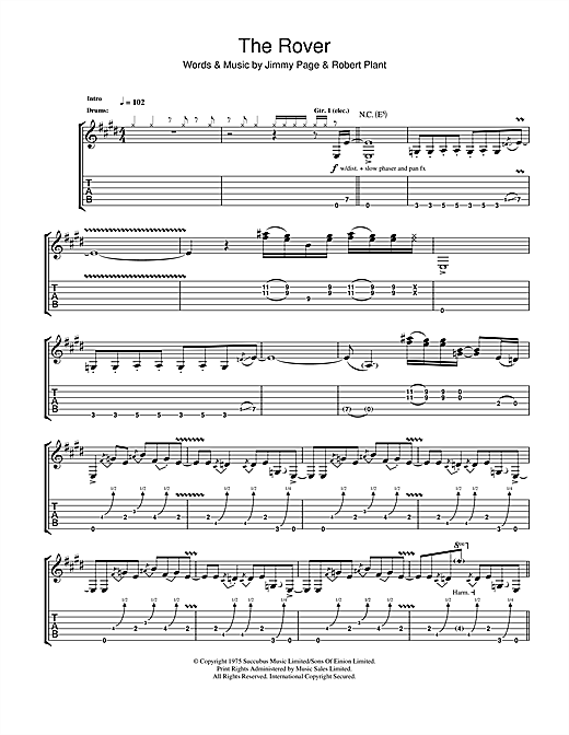 The Rover Sheet Music