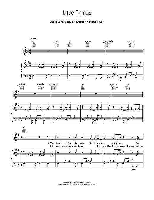 Little Things Sheet Music