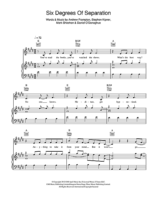 Six Degrees Of Separation Sheet Music