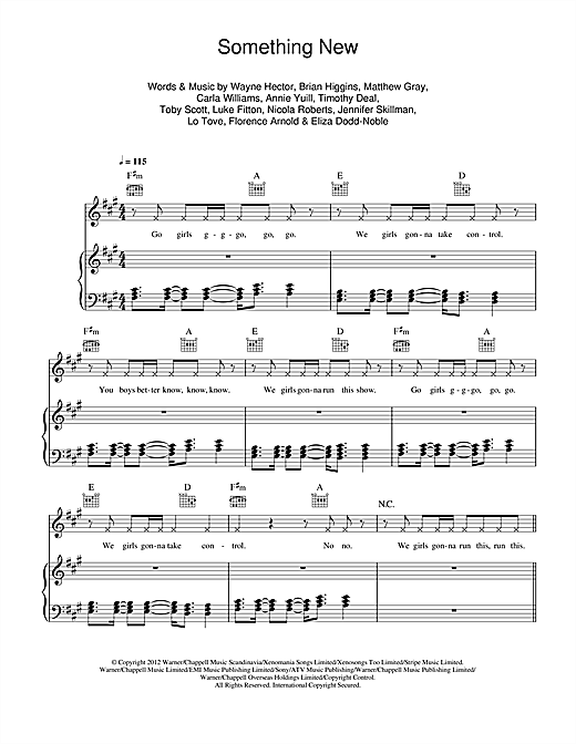Something New Sheet Music