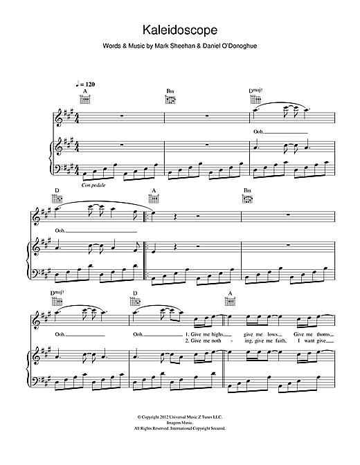 Kaleidoscope Sheet Music