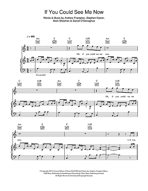 If You Could See Me Now Sheet Music