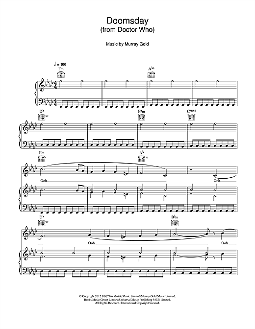 Doomsday (from Doctor Who) Sheet Music
