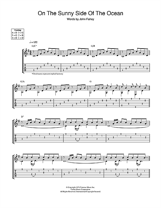 On The Sunny Side Of The Ocean (Guitar Tab)