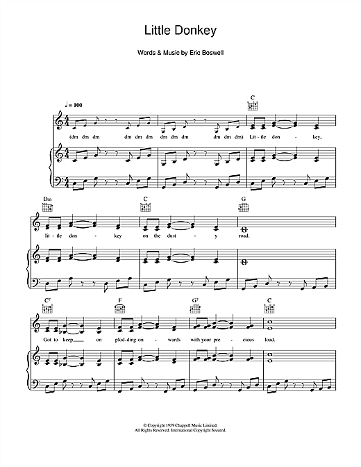 Little Donkey Sheet Music
