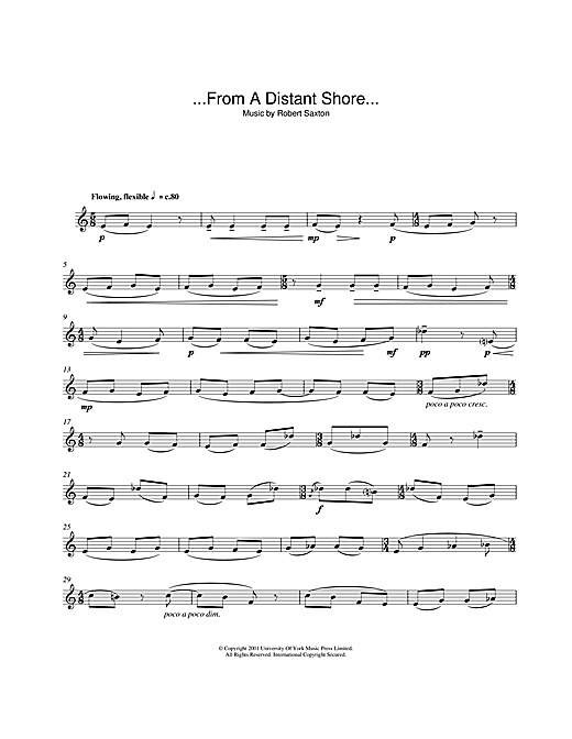 ...From A Distant Shore... Sheet Music