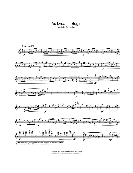 As Dreams Begin Sheet Music