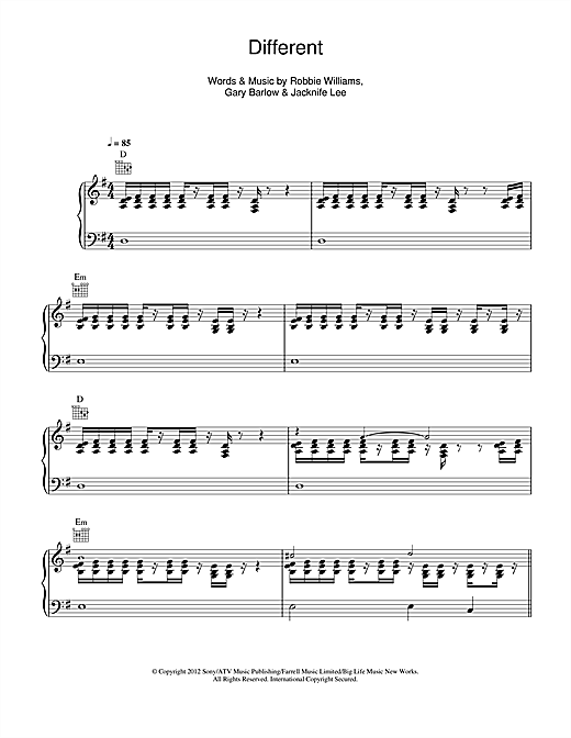Different Sheet Music