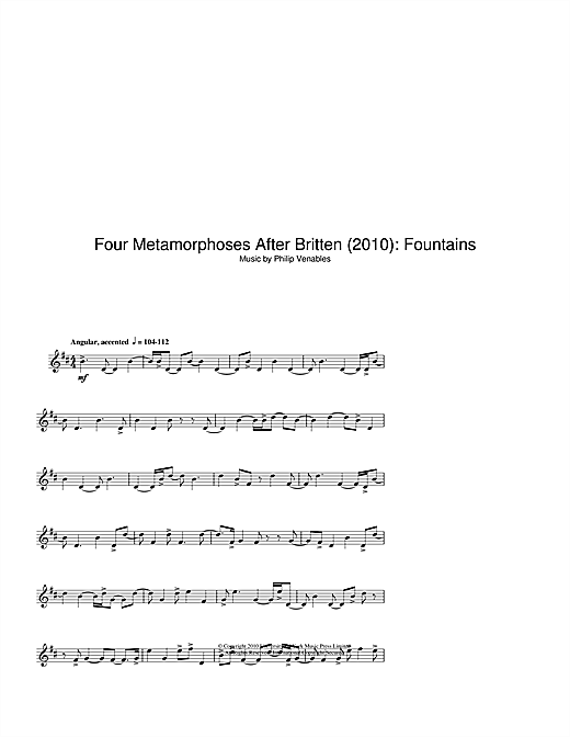 page one of Four Metamorphoses After Britten (2010): FountainsASALTTEXT