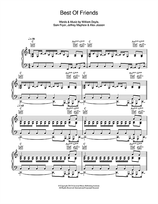 Best Of Friends Sheet Music