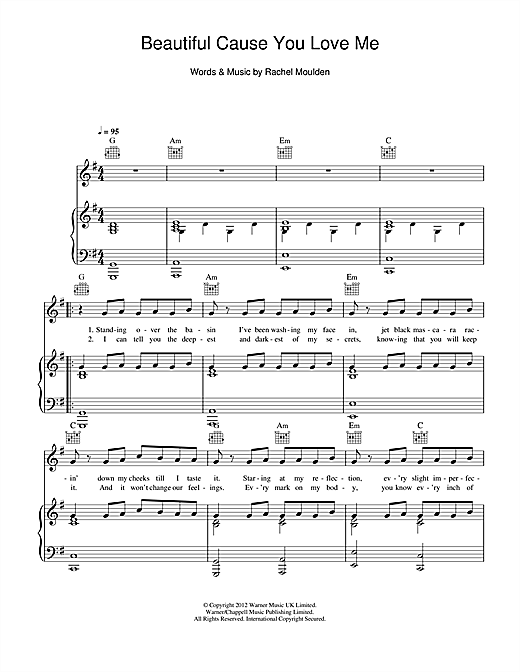 Beautiful Cause You Love Me Sheet Music