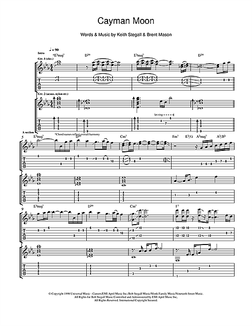 Cayman Moon Sheet Music
