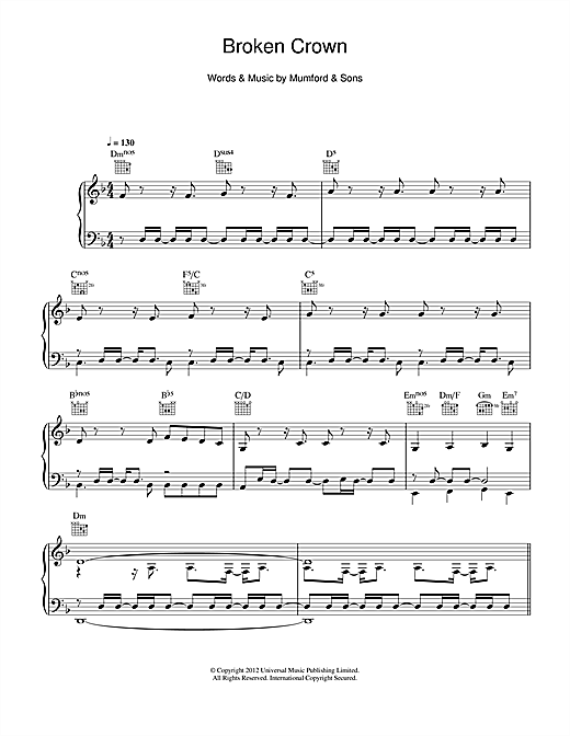 Broken Crown Sheet Music