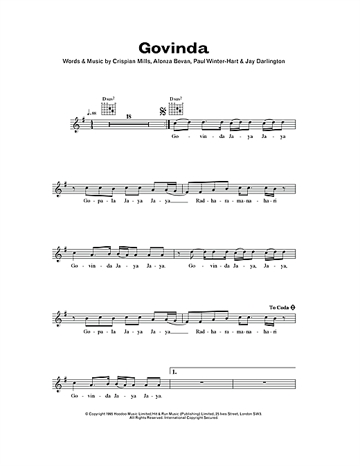 Govinda Sheet Music